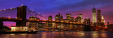 Fototapeta Nowy York - Brooklyn Bridge and Manhattan at sunset