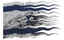 Wavy Israel Flag Grunged