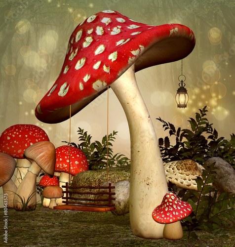 Fotografie, Obraz  Elf fantasy garden