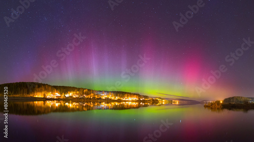 Photo sur Aluminium Aurore polaire Aurora Borealis (nothern lights)