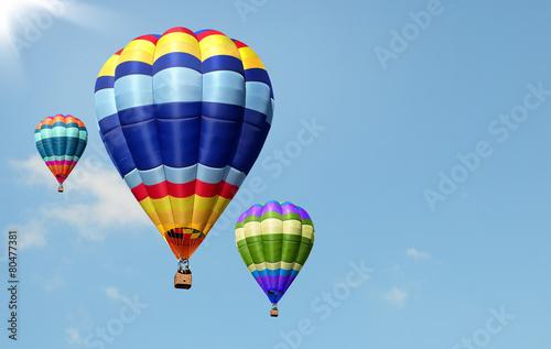 Fotografie, Obraz  Mongolfiere nel cielo azzurro