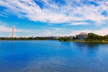 Thomas Jefferson And Washington Memorial DC