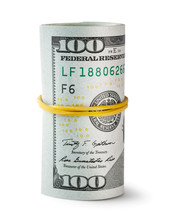 Twisted And Tapered Rubber Band Hundred-dollar Bills