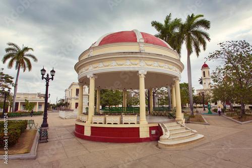 CIENFUEGOS, CUBA - Pavilion at Jose Marti square Canvas Print