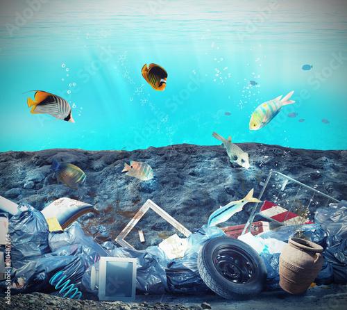 Fotobehang Koraalriffen Seabed pollution