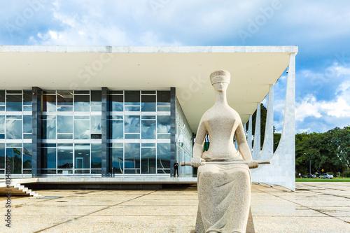 Supreme Federal Tribunal in Brasilia, Brazil Poster