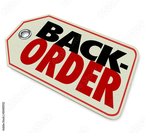 Photo Back Order Price Tag Store Merchandise Not Available Sold Out
