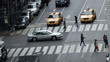 Time lapse of traffic congestion and pedestrians on a busy New York street