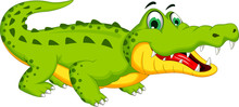 Crocodile Cartoon Posing