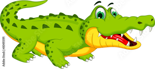 Canvas-taulu crocodile cartoon posing
