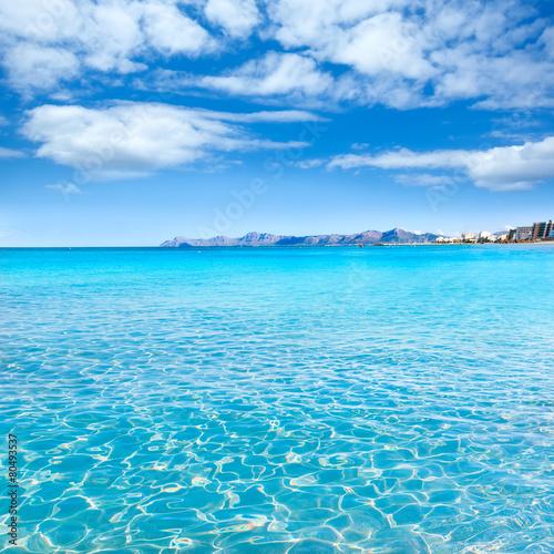 Staande foto Oceanië Mallorca Can Picafort beach in alcudia bay Majorca