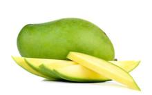 Green Mango Isolated On White ...