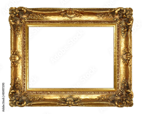 Gold Picture Frame Wall mural