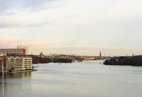 Photo  Stockholm view at sundown