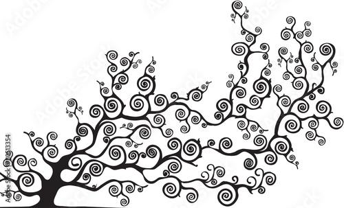 Fotografia  albero con rami curvi