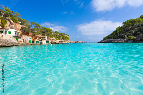 Photo Stands Turquoise Majorca Cala Llombards Santanyi beach Mallorca