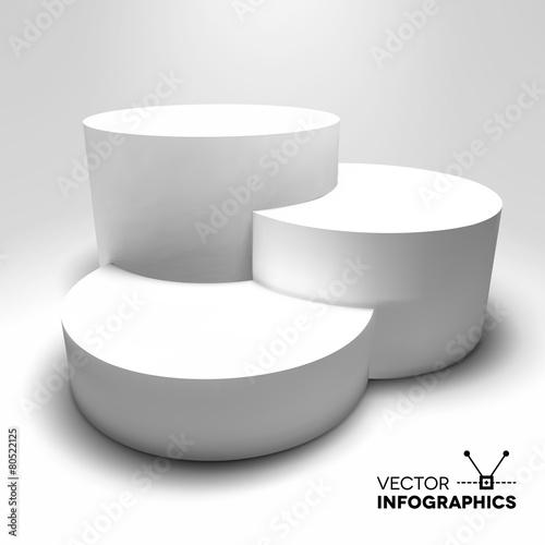 Fotografie, Obraz  Infographic vector 3D pedestal