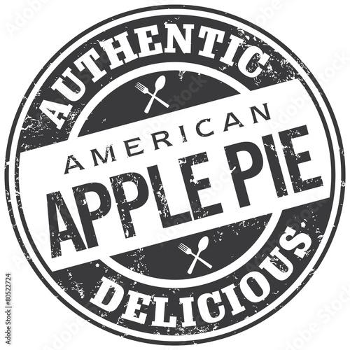 Photo  apple pie stamp