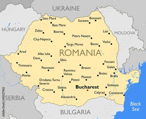 Photo  Romania map