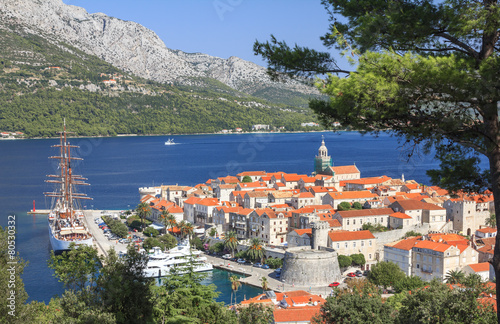 Old Town of Korcula, Korcula Island, Croatia Tablou Canvas