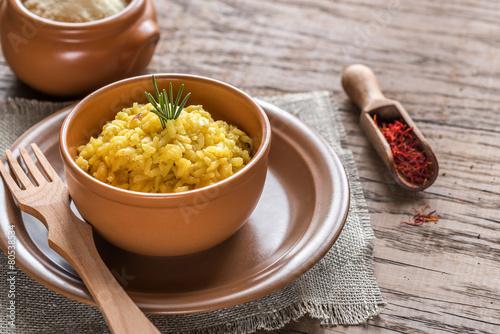 Photo  Risotto with saffron