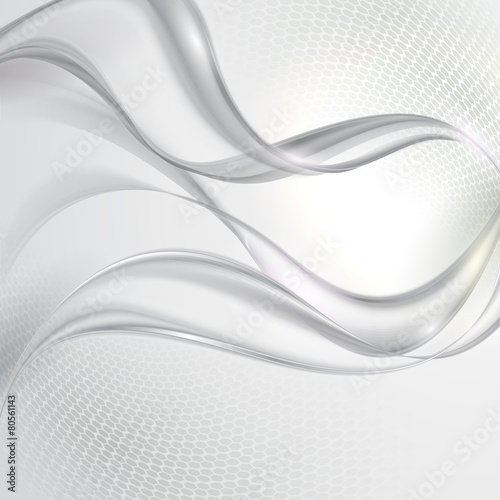 Naklejka dekoracyjna Abstract gray wave background