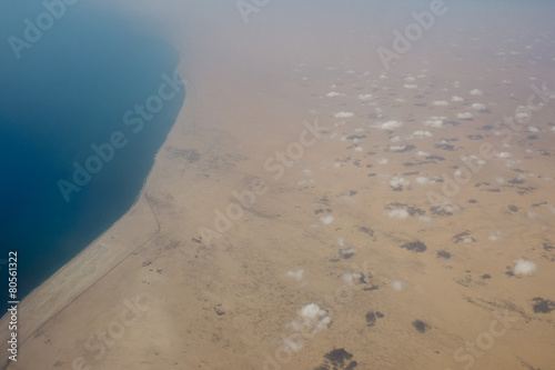 Photo  arabic desert aerial view