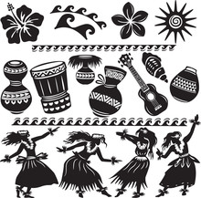 Hawaiian Set With Dancers And ...