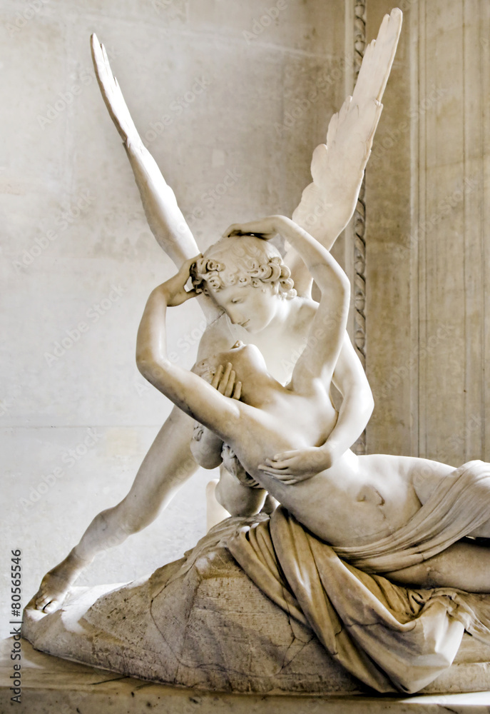Fototapety, obrazy: Psyche revived by Cupid kiss
