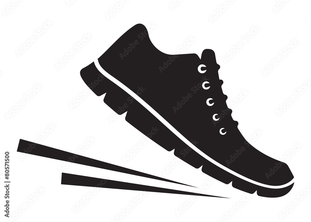 Fototapeta Running shoes icon