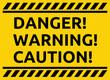 Danger warning caution vector sign