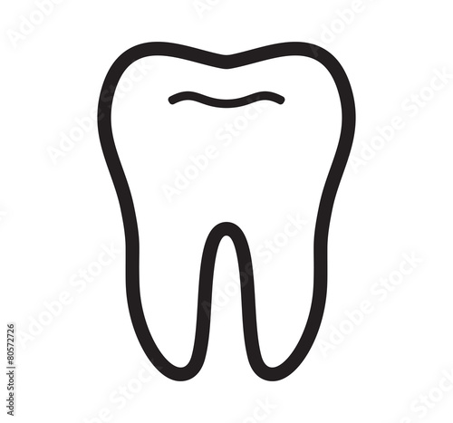 Fotografie, Obraz  Tooth vector icon
