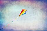 Fototapeta Tęcza - Kolorowy latawiec