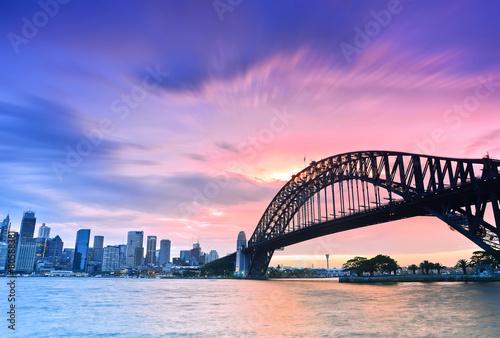 plakat Sydney Harbour Panorama at dusk