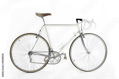 Deurstickers Fiets vintage racing bike isolated on a white background