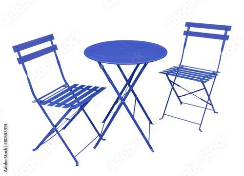 salon de jardin bleu - Buy this stock photo and explore similar ...