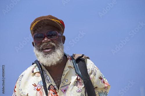 jamaican old man portrait Canvas Print