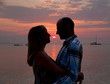 Romance under caribbean sunset