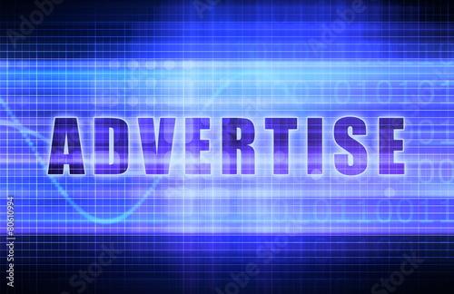 Fotografía  Advertise on a Tech Business Chart Art
