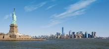 Statue Of Liberty, New York Skyline