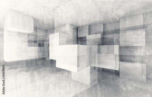 Obraz Chaotyczna struktura kostek - fototapety do salonu
