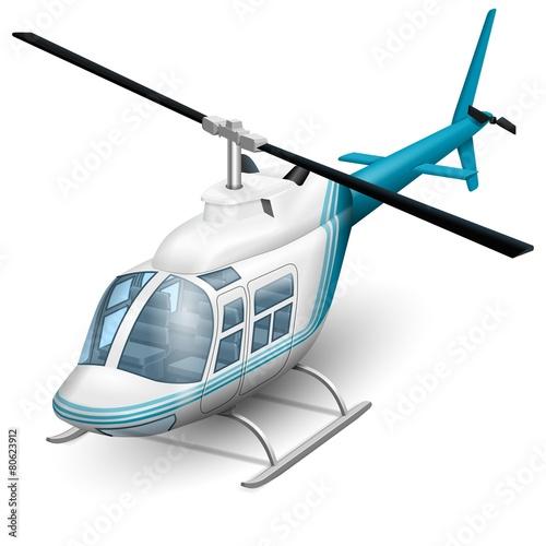Fotografie, Obraz  Helicopter icon