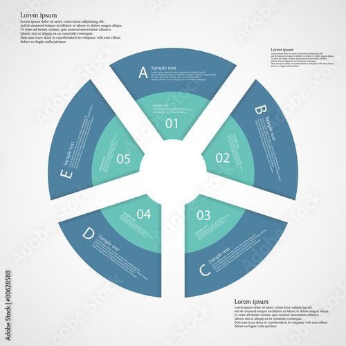Ring from five separate blue parts – kaufen Sie diese Vektorgrafik ...