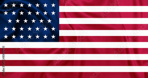 Fotografie, Obraz  The United States of America from 1861 to 1863 Union flag
