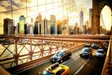 New York City, Brooklyn Bridge skyline - 80633188