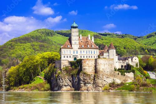 fototapeta na ścianę Austria, stare opactwo zamek na Dunaju