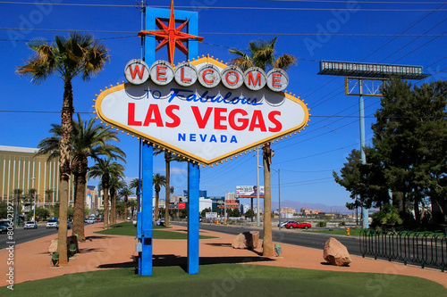 Fotobehang Las Vegas Welcome to Fabulous Las Vegas sign, Nevada