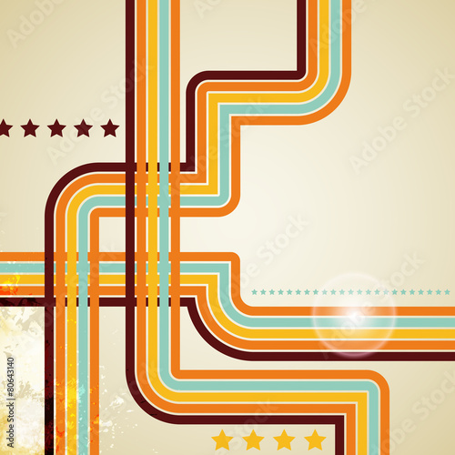 abstract retro lines background Tableau sur Toile