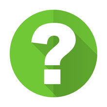 Question Mark Green Flat Icon ...