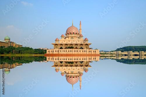 Putra Mosque is the principal mosque of Putrajaya, Malaysia. Poster